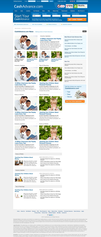 CashAdvance.com News Page