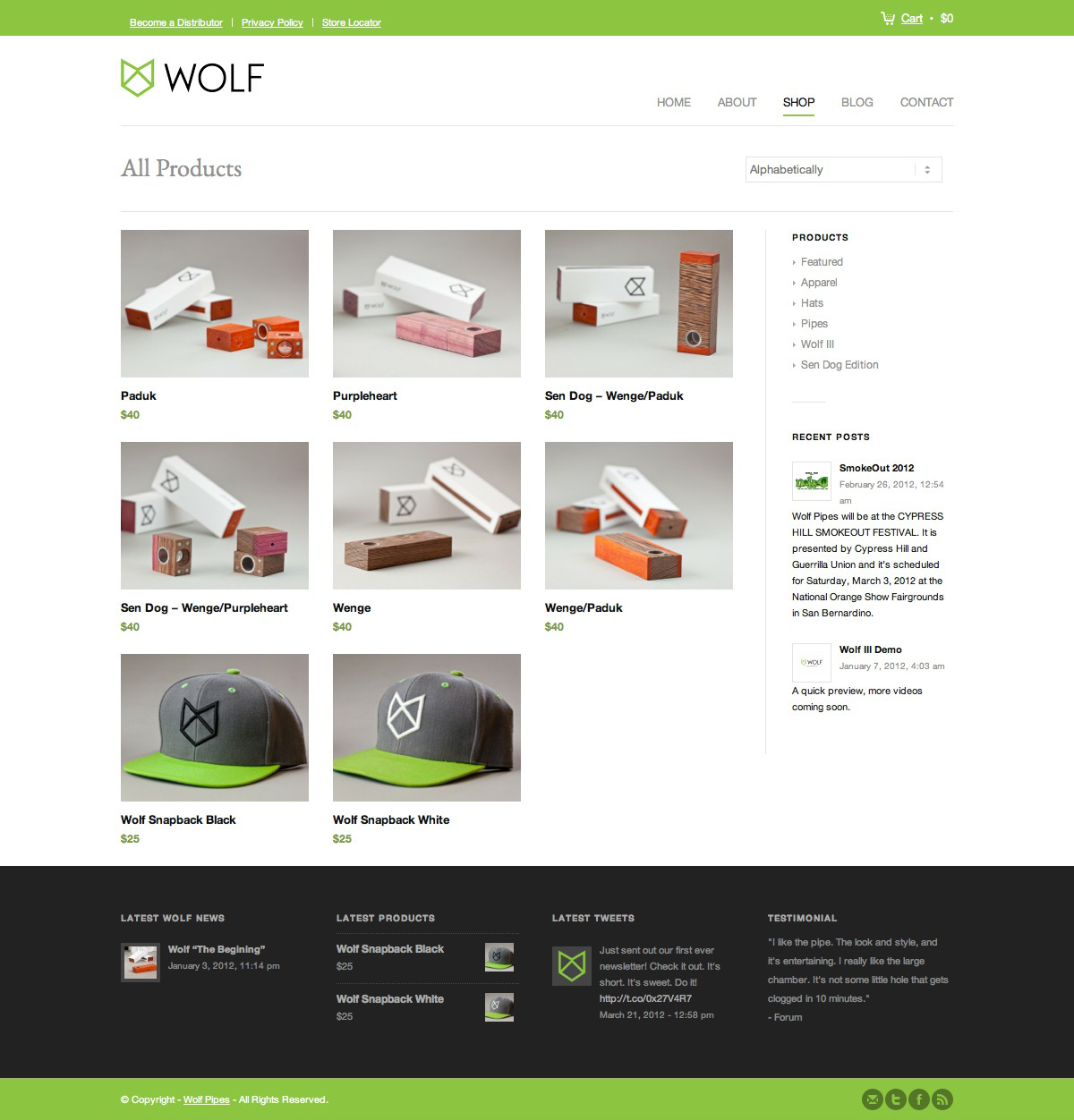 Wolf Pipes Web Design